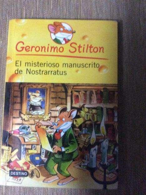 Libro:Geronimo Stilton,el misterioso manuscrito de Nostrarratus