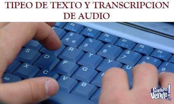 Tipeos de Texto y Extraccion de audios.