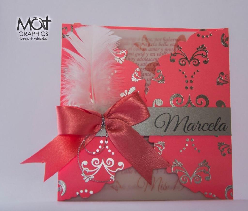 Tarjeta Invitacion Quince