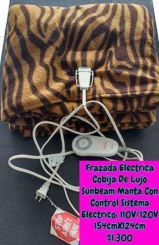 Frazada Electrica Cobija importada De Lujo Sunbeam Manta Con Control