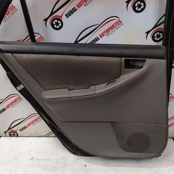 Tapizado Puerta Trasera Izquierda Toyota Corolla 2280 Oblea:01675332