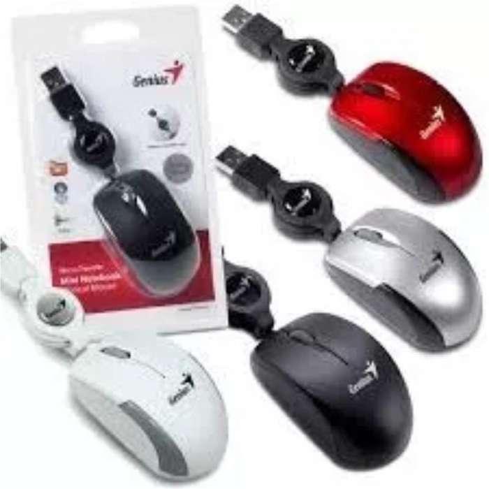 Mouse Usb Genis Micro Traveler Retractil