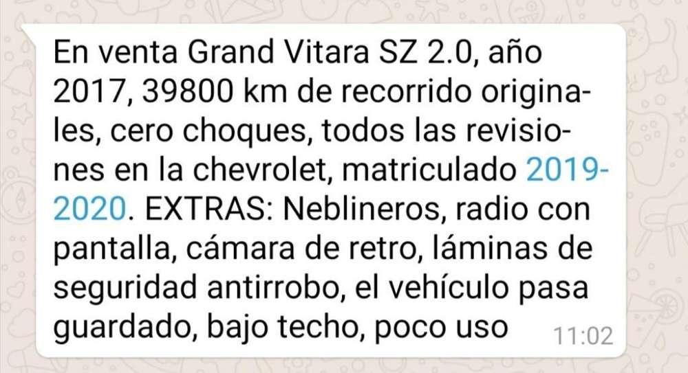 Suzuki Grand Vitara SZ 2017 - 39800 km