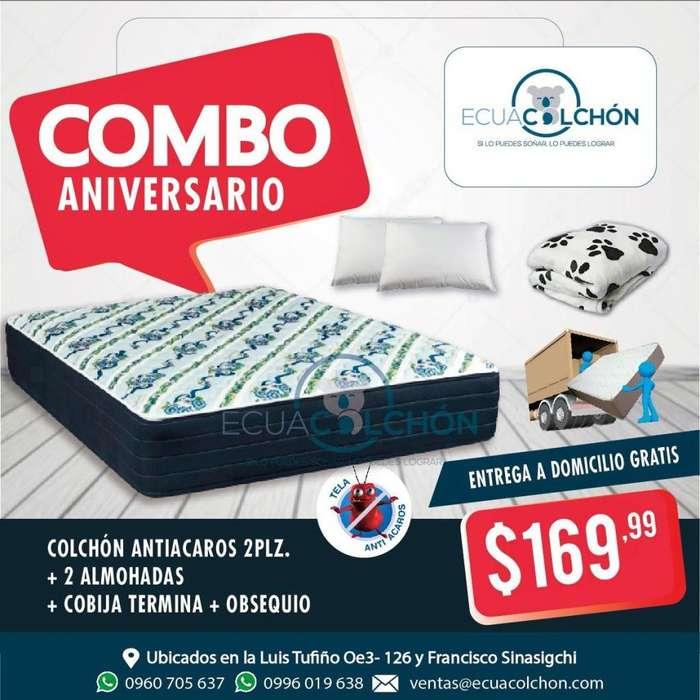 !! COLCHONES DE PROMOCION PARAISO !! mas <strong>almohadas</strong> mas OBSEQUIO mas ENTREGA A DOMICILIO ** 0960705637 **