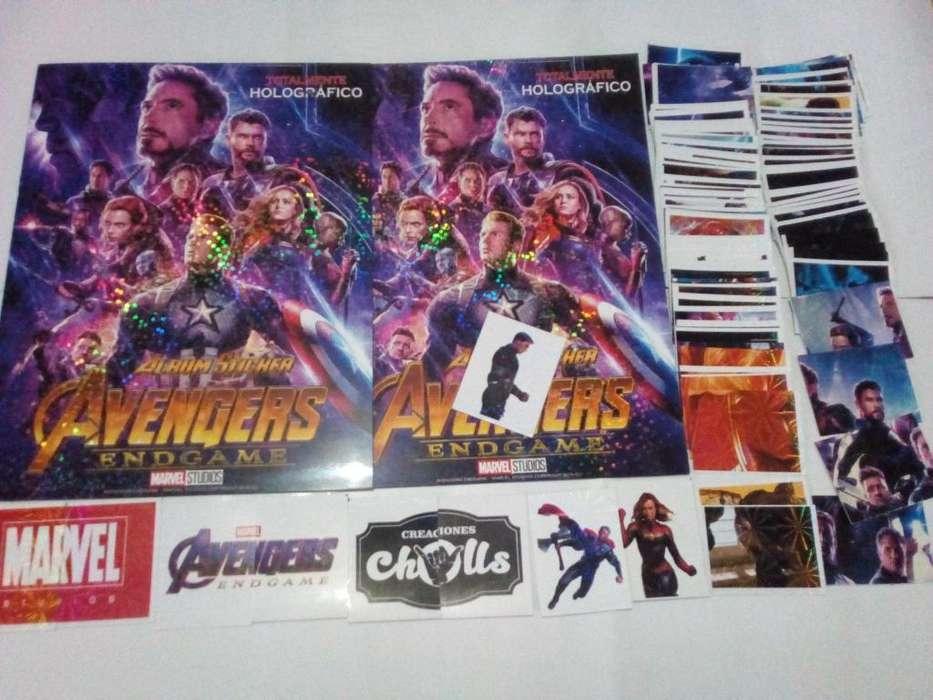 lbum Avengers endgame chulls ms set a pegar