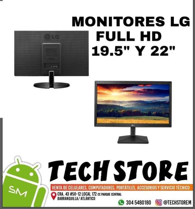 Vendo Monitores Lg Full Hd 19 Y 22 Pulg