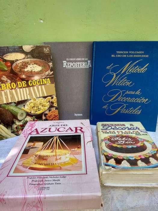 LIBROS DE COCINA Y REPOSTERIA
