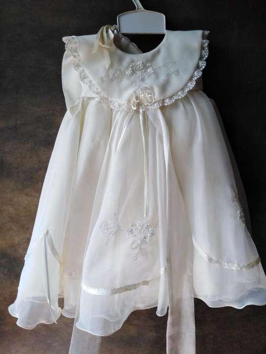 Vestido Bautizo Niña Talla 1