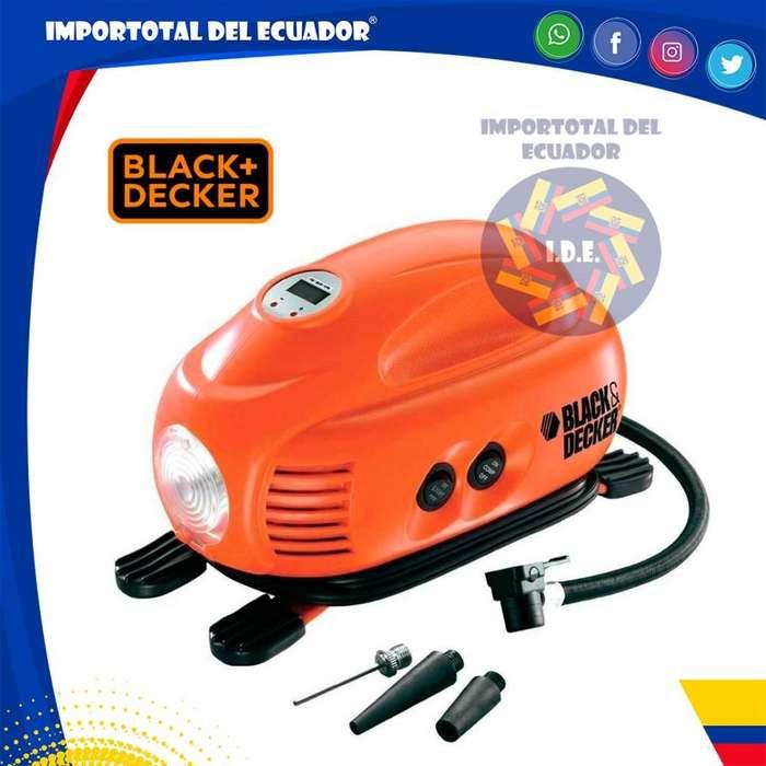 Inflador linterna de 12 voltios ''nuevo'' para llantas o balones deportivos/ Black Decker ASI200 LA / 1 año garantía
