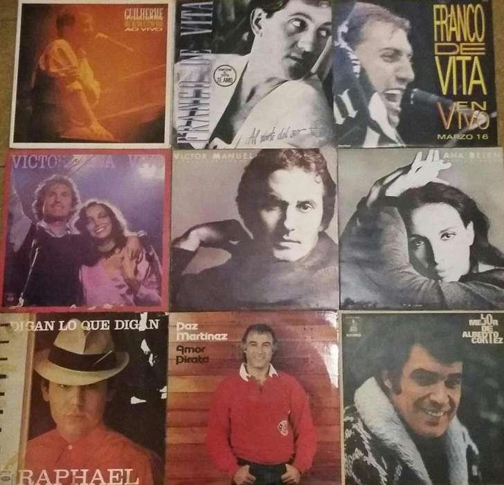 Disco vinilo Franco De Vita Raphael Ana Belén Víctor Manuel Alberto Cortez 11 LPS