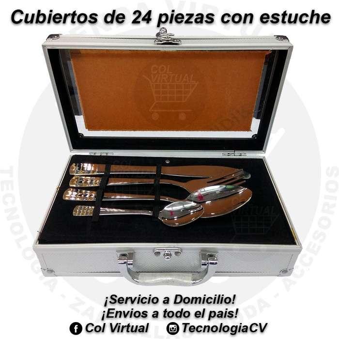 Cubiertos de 24 piezas con estuche VP50 R0449
