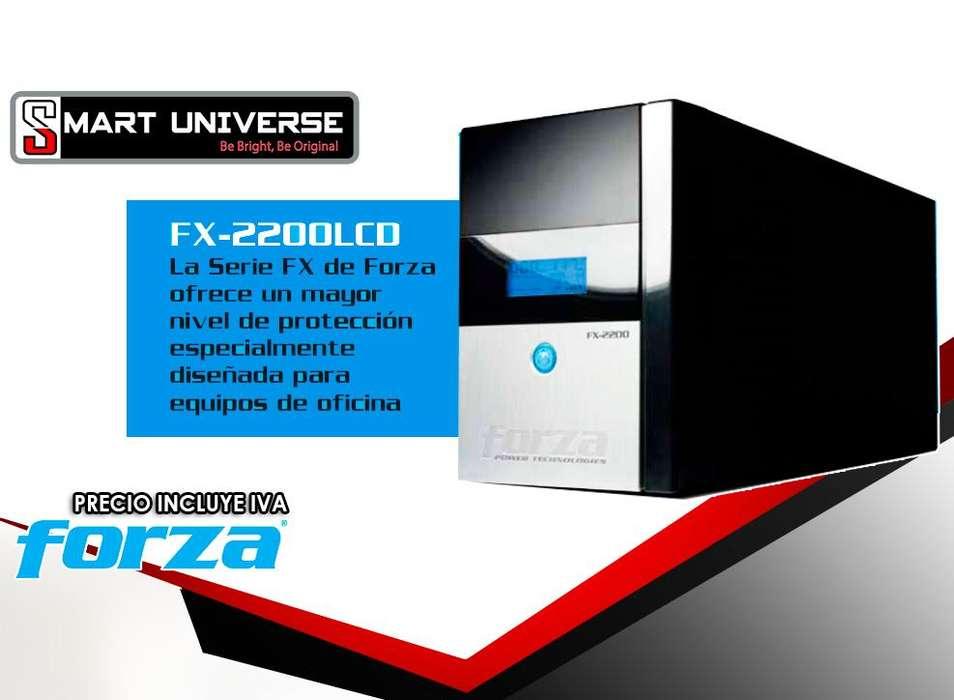 Ups Con Regulador Forza Fx2200lcd 2200va 1200w 8 Tomas 120v