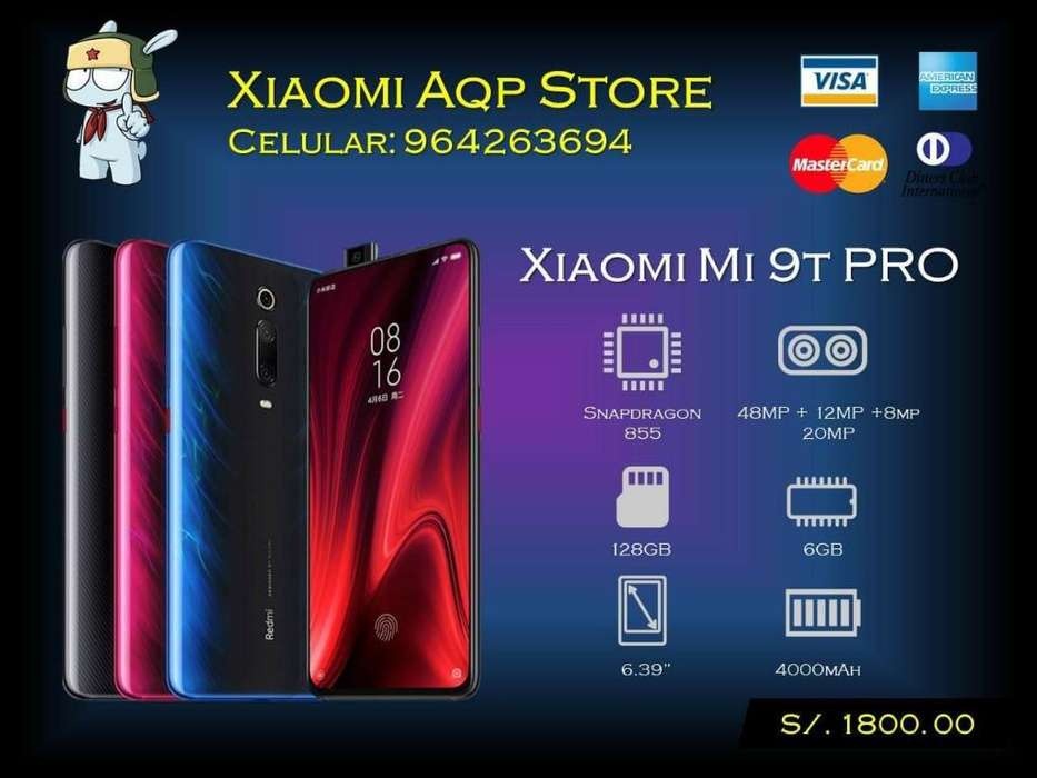 Xiaomi Mi 9t Mi9t Pro 128gb Azul Y Negro