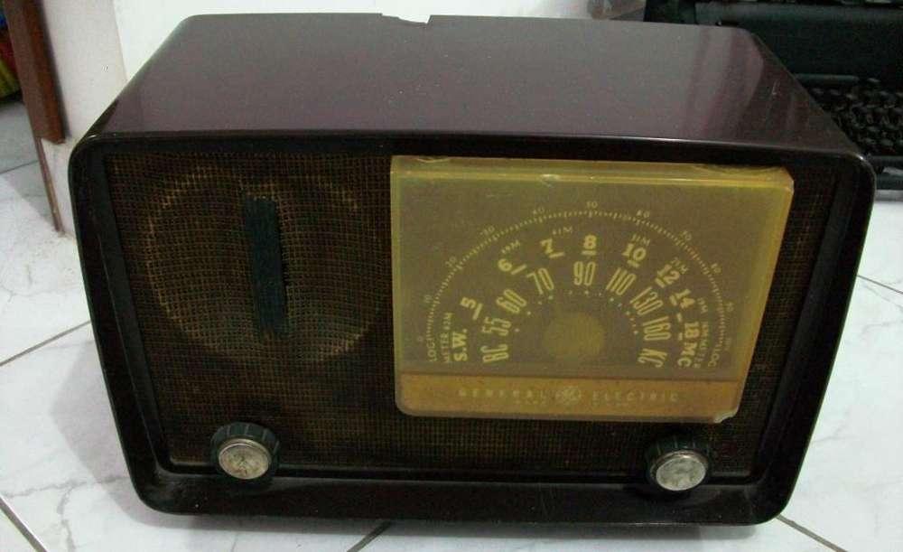 Radio De Tubos Antiguo General Electric, Totalmente Funcional