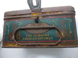 Calentador the genuine Swedish optimus caja antiguedad 13 piezas perfecto