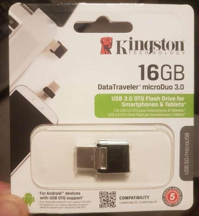 Pendrive Kingston 16GB 3.0 DTduo