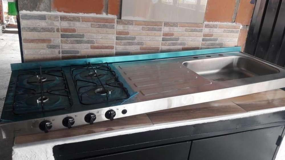 se vende estufa con lava platos para cocina integral