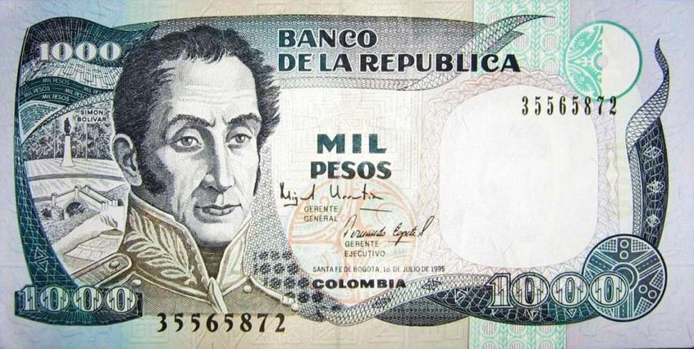 se vende antiguo billete de 1000 pèsos