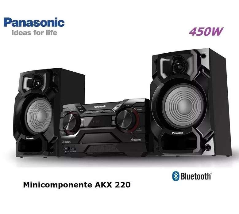 Minicomponente Panasonic Akx 220, 450w, Bluetooth, Usbx2