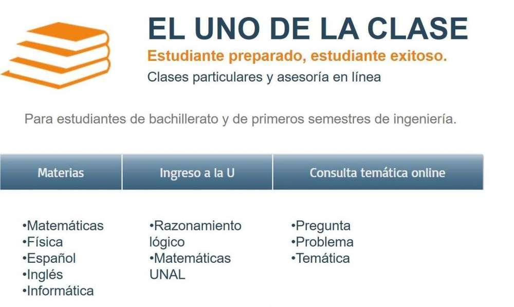 CLASES Y ASESORÍAS WHATSAPP, SKYPE, GMAIL - EL UNO DE LA CLASE - WHATSAPP, SKYPE, GMAIL