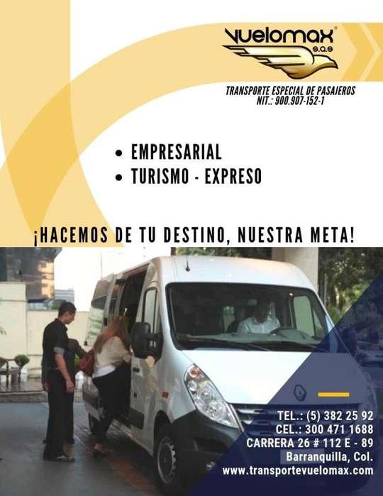 SERVICIO TRANSPORTE TURISMO EMPRESARIAL ALQUILER VAN