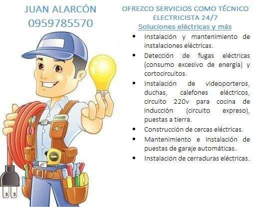 OFREZCO SERVICIOS COMO TÉCNICO ELECTRICISTA 24/7