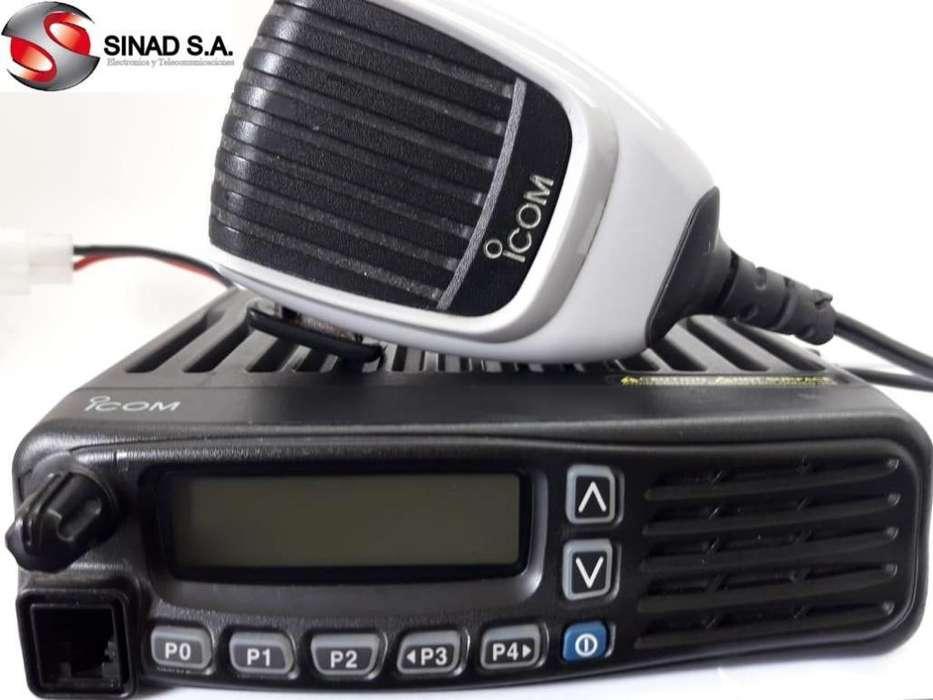 Radio Base UHF Icom Modelo Icf6021 Con Micrófono Full Rang