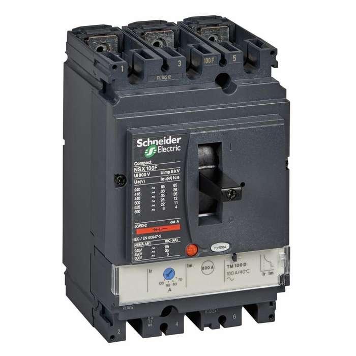 Interruptor Automático Compact Nsx100f - Tmd - 100 A - 3 Pol