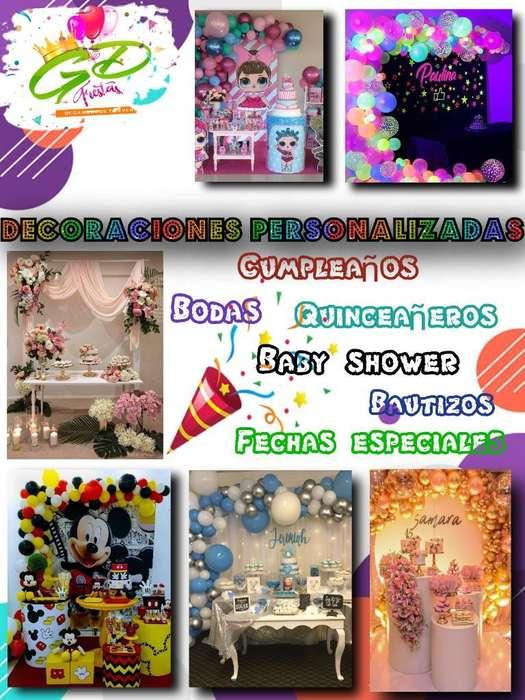 Decoraciones Personalizadas Y Eventos
