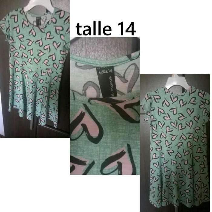 Vestido Nena Talle 14