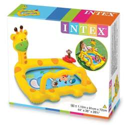 Piscina Inflable Jirafa Intex Para Bebes Colorida Diversión Infantil
