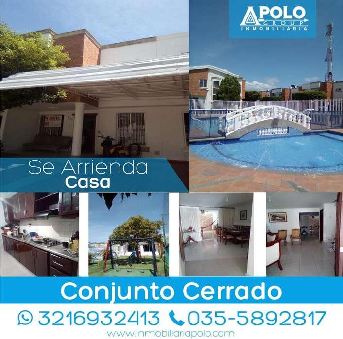 Se Arrienda <strong>casa</strong> en Conjunto Cerrado