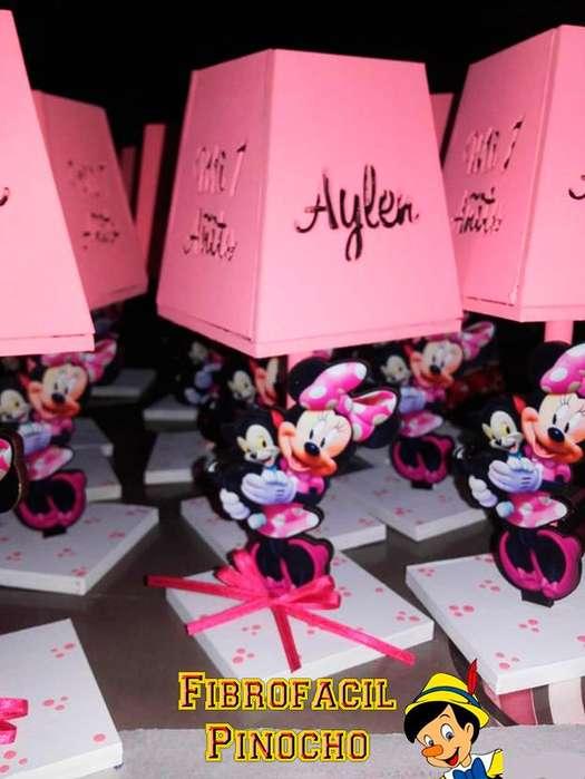 Velador decorado fibrofácil para Candy Bar