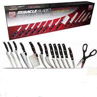 NUEVOS!!! Set De Cuchillos X 13 Piezas Miracle Blade, Fabulosos....DOMICILIO GRATIS
