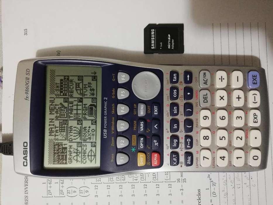 <strong>calculadora</strong> Grafica Casio Fx-9860gii Sd