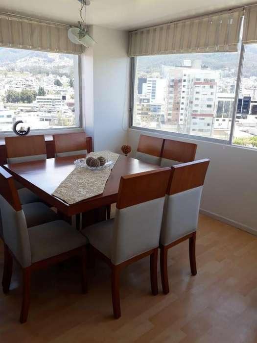 Rento departamento amoblado 100mts, 2 dormitorios,Sector Ministerio de Educacion