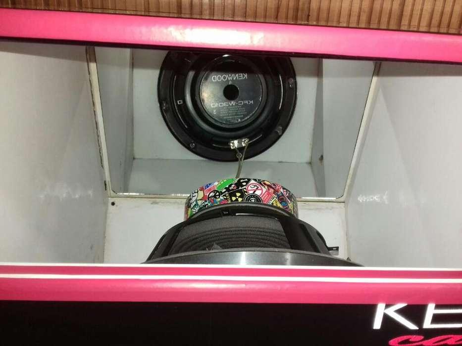 Bajos Kenwood con Caja Turbo