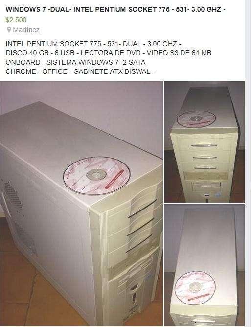 MUY BUEN CPU DUAL ,,INTEL PENTIUM 4-531,,SOCKET 775,,3.00 GHZ,,