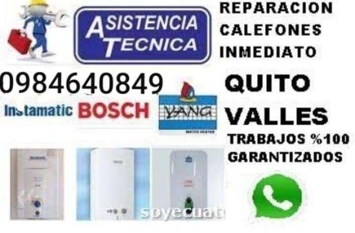 REPARACION Y MANTENIMIENTO CALEFONES TERMOSTATOS A AGAS ELECTRICOS BOMBAS DE AGUA FUGAS EN COBRE 0984640849