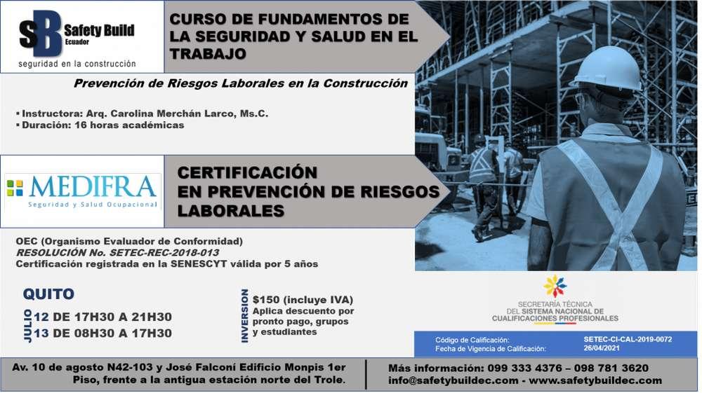 CURSO DE CAPACITACIÓN DE FUNDAMENTOS DE LA SEGURIDAD Y SALUD EN EL TRABAJO