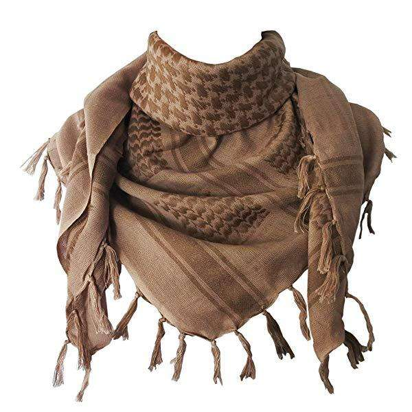 Shemagh/ Keffiyeh/ Pañuelo Arabe Color Sand/ Arena