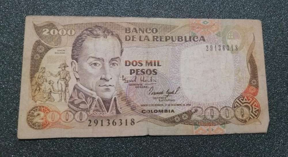 Antiguo Billete de 2000