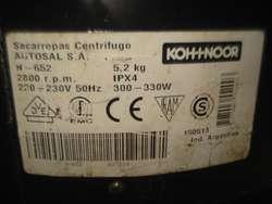 SECARROPAS KOH-I-NOOR 5.2KG MUY BUEN FUNCIONAMIENTO NO ENVIO