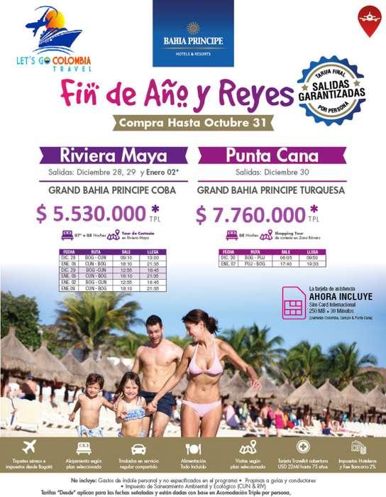 Punta Cana y Riviera Maya Fin de Año