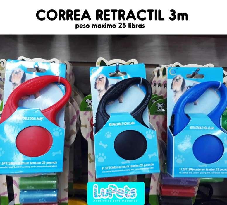 Correa Retractil <strong>perro</strong> Mascotas 3 Metros-25 lb