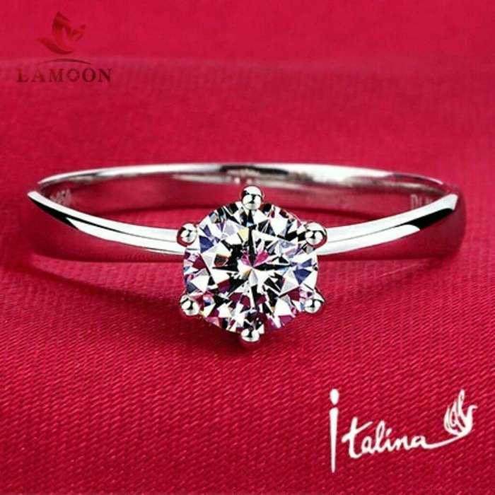 fdfe6355ae98 Anillos de Compromiso Oro 18k con Diamantes Aniversario Matrimonio Plata  Alianzas Celular