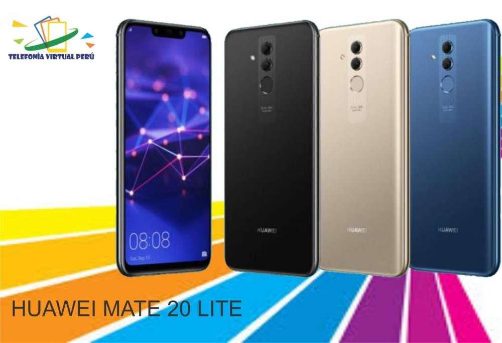 HUAWEI MATE 20 LITE 64GB/4RAM CÁMARA CUÁDRUPLE TELEFONÍA VIRTUAL PERU