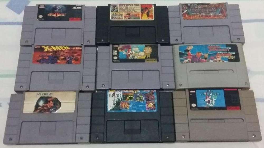 Juegos Super Nintendo y Cajas Snes Manual Maletín Nes