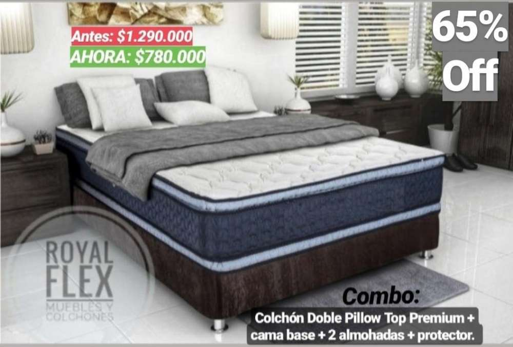 Colchon Resortado Cama Base