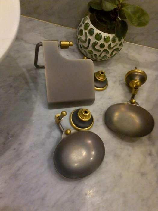 Accesorios para Baño de 3 piezas: Peltre / Bronce